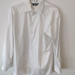 Kenneth Cole Reaction White Dress Shirt L 16 32/33